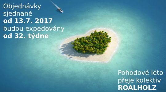 Celozávodní dovolená v termínu od 21.7. - 6.8. 2017