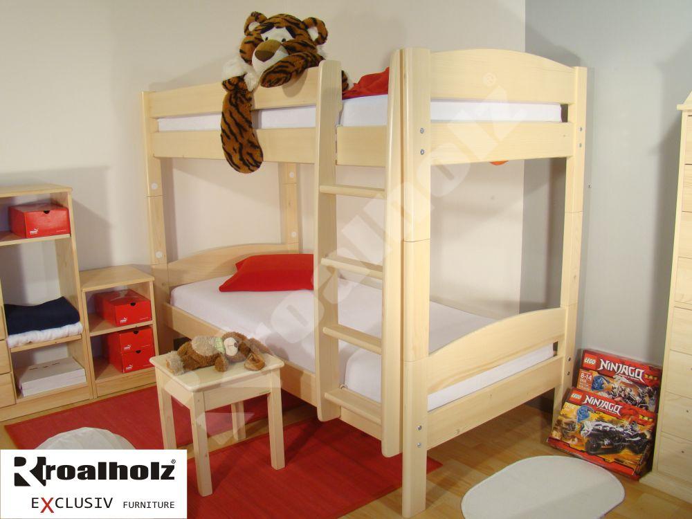 Patrová postel z masivu ELEA P, palanda z masivu 90x200 od ROALHOLZ