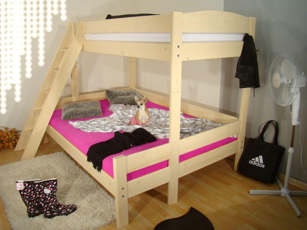 Patrová postel z masivu ELEA BIG, palanda masiv 140x200 ROALHOLZ