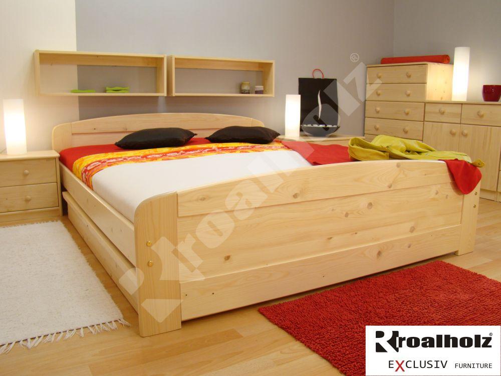 Kvalitní manželská postel z masivu PAVLA 180x200 dvoulůžko masiv smrk ROALHOLZ