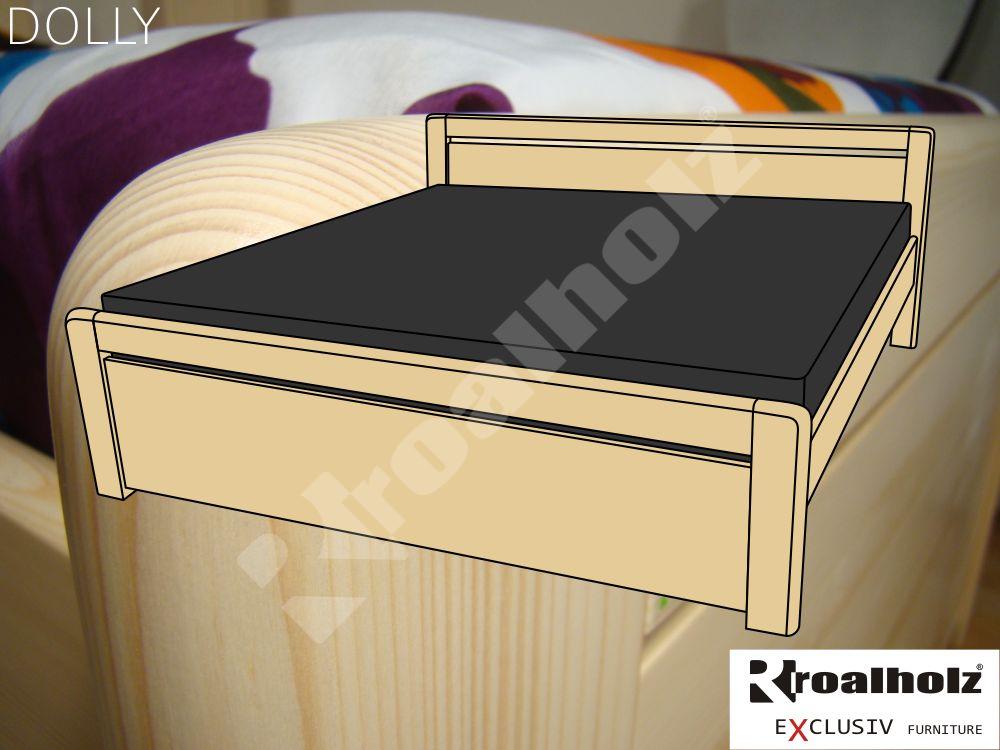 Moderní manželská postel z masivu DOLLY, dvoulůžko masiv smrk ROALHOLZ