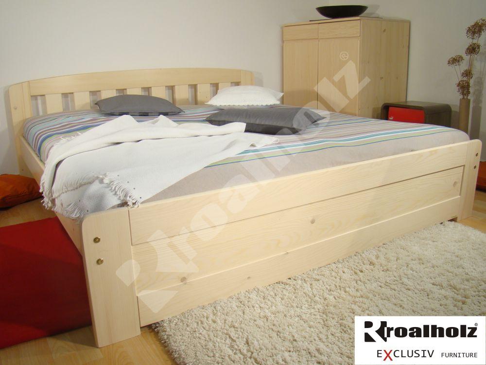 Moderní manželská postel z masivu MICHAELA NR, dvoulůžko masiv smrk ROALHOLZ