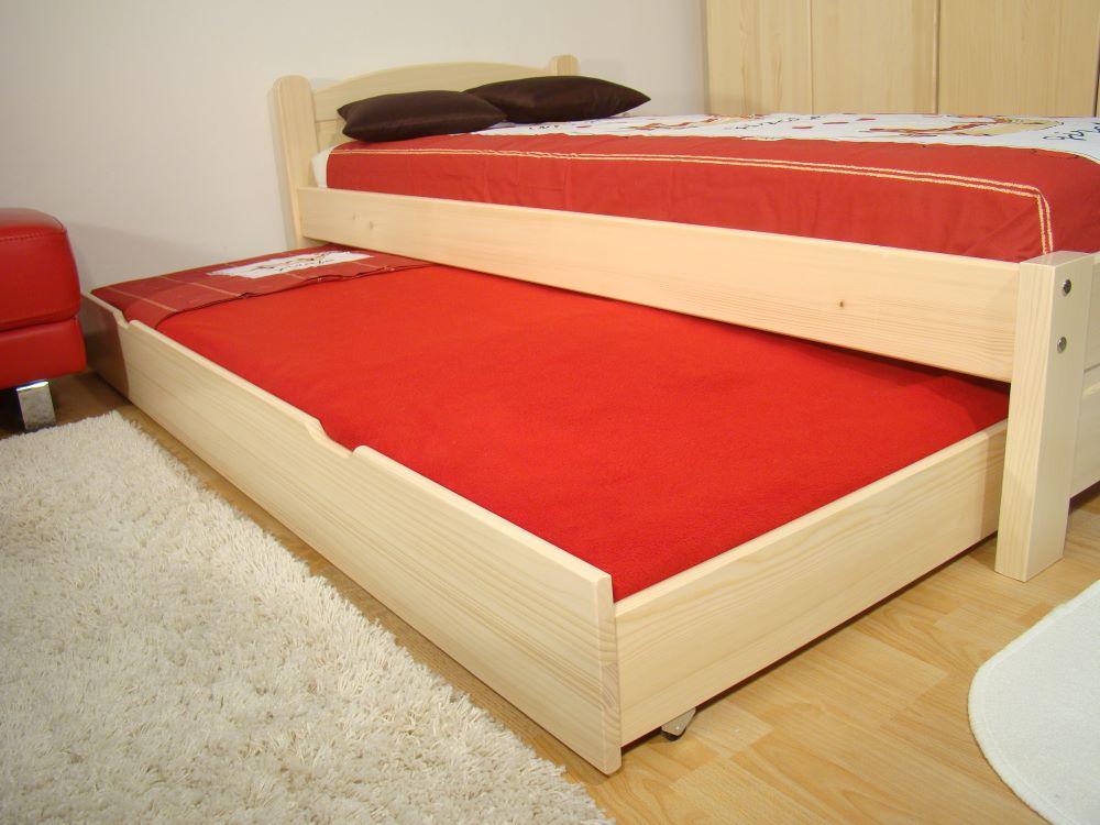 Výsuvné jednolůžko z masivu PŘISTÝLKA, výsuvná postel 90x200 ROALHOLZ
