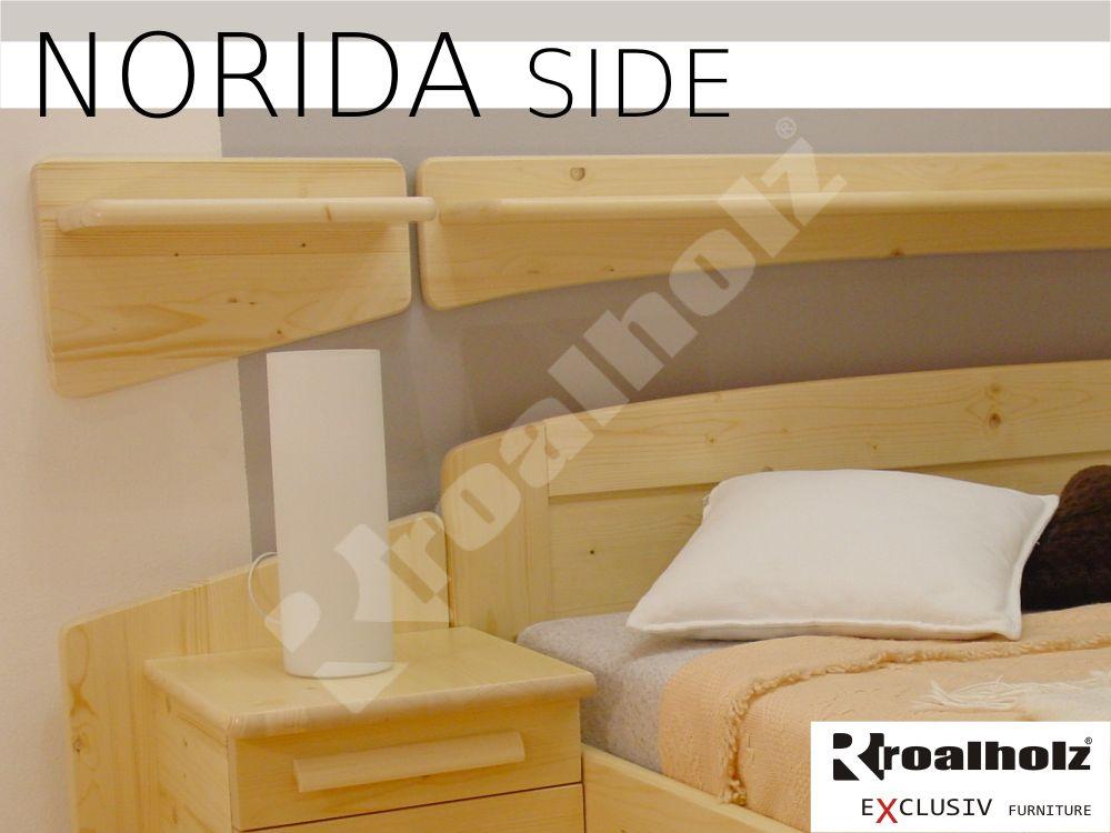 police masiv levá - pravá nad postel NORIDA SIDE (dřevěná polička z masivu NORIDA SIDE)