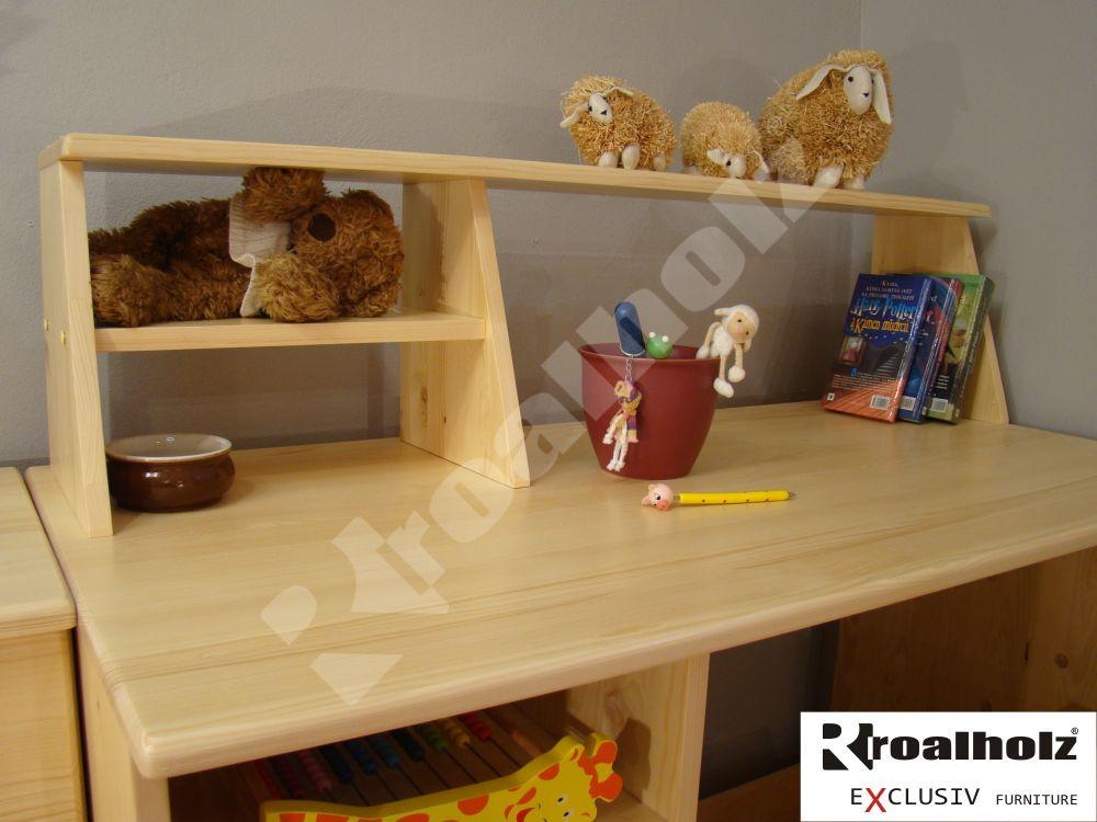 nádstavec z masivu na psací stůl ZITA 120 (dřevěná police na psací stůl šíře 120 cm)