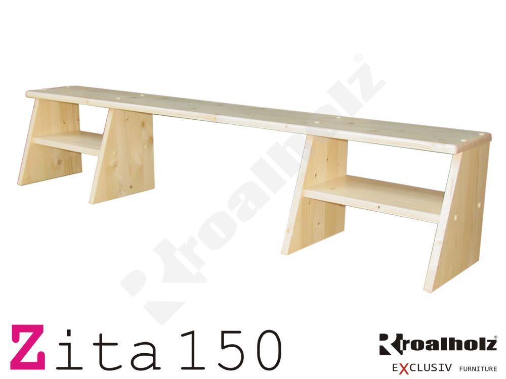 police masiv na psací stůl ZITA 150 (dřevěný nádstavec na psací stůl šíře 150 cm)