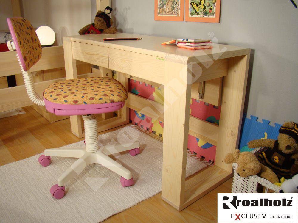 Dětský rostoucí psací stůl z masivu JUNI, rostoucí psací stůl pro děti ROALHOLZ