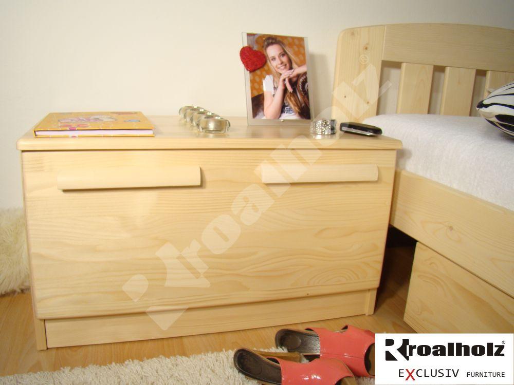 Dřevěná nízká komoda z masivu KATRIN I, nízká komoda masiv smrk ROALHOLZ