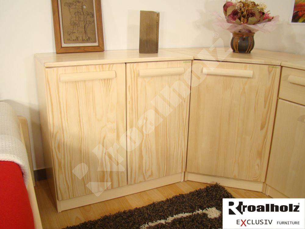 Dřevěná dvířková komoda z masivu KATRIN IX, dvířková komoda masiv smrk ROALHOLZ