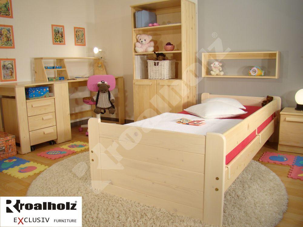dětské jednolůžko z masivu RONY R 90x200 dětská postel z masivu