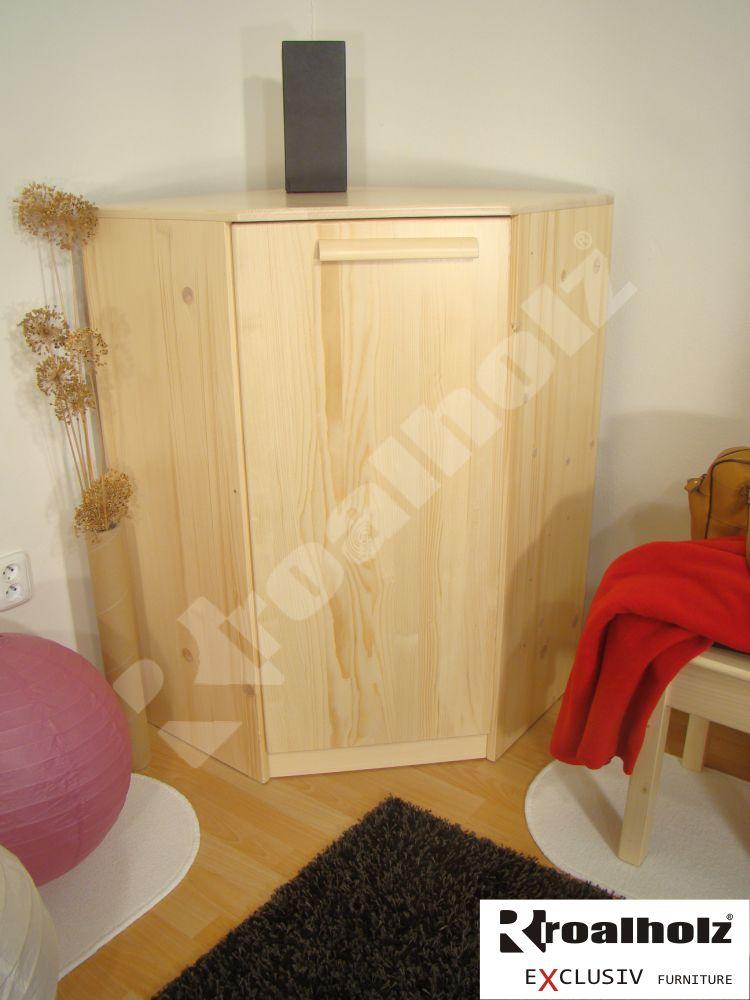 Dřevěná rohová skříňka z masivu KATRIN R 108, rohová komoda masiv ROALHOLZ