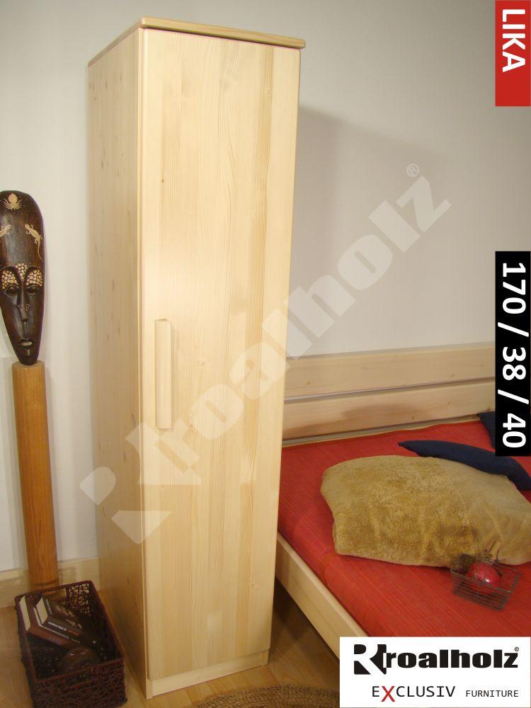 Úzká policová skříň z masivu LIKA 170, policová skříň masiv ROALHOLZ