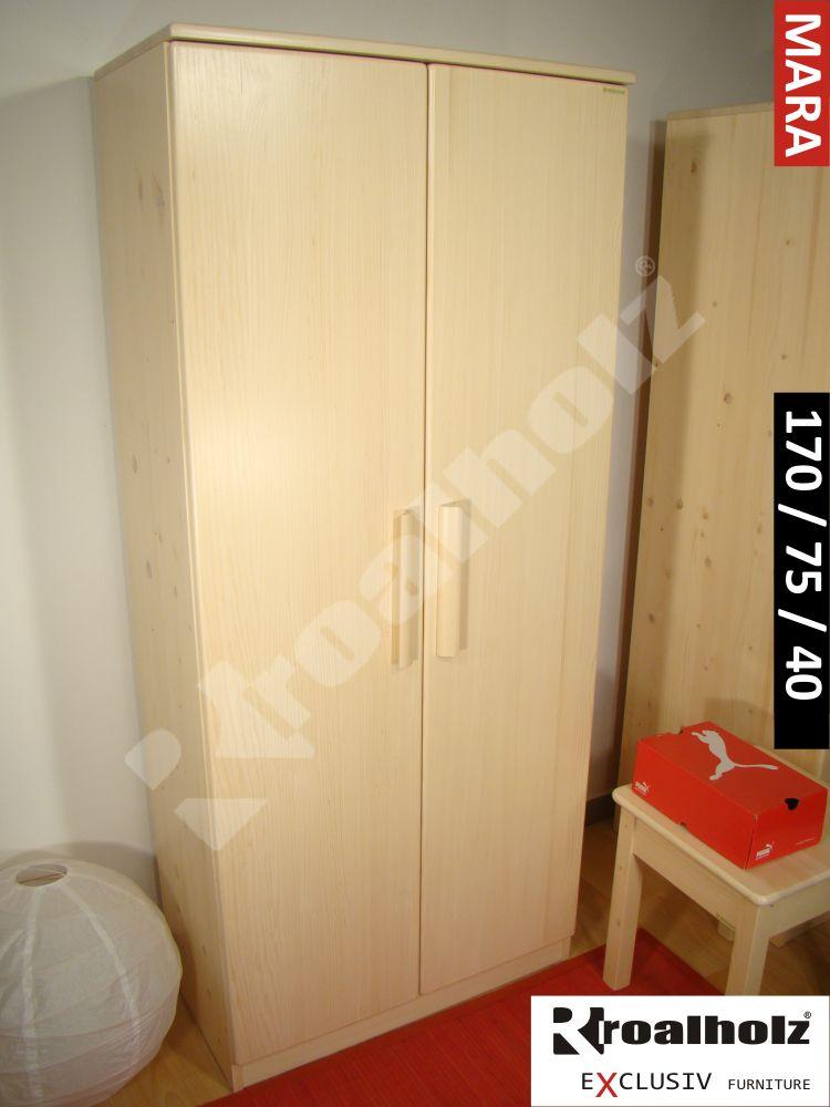 Dřevěná policová skříň z masivu MARA 170, policová skříň masiv ROALHOLZ