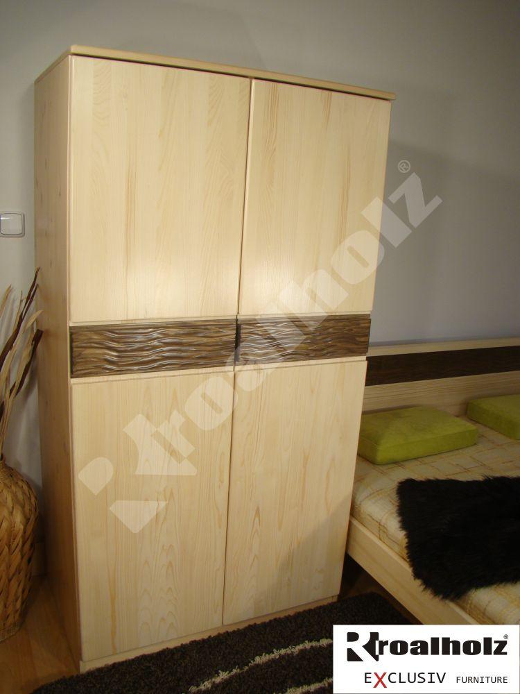 skříň z masivu do ložnice KALI 170 (dřevěná skříň masiv celomasivní KALI 170)