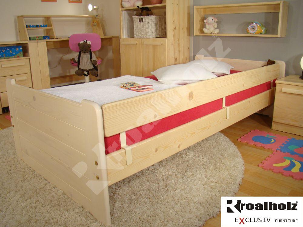 dětská bezpečnostní zábrana z masivu na postele ZÁBRANA NASOUVACÍ