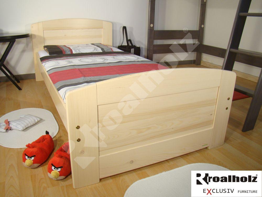 smrková postel z masivu PAVLA 90x200, kvalitní postel masiv