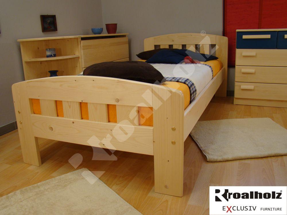 moderní jednolůžko z masivu DANIEL 90x200 moderní postel z masivu
