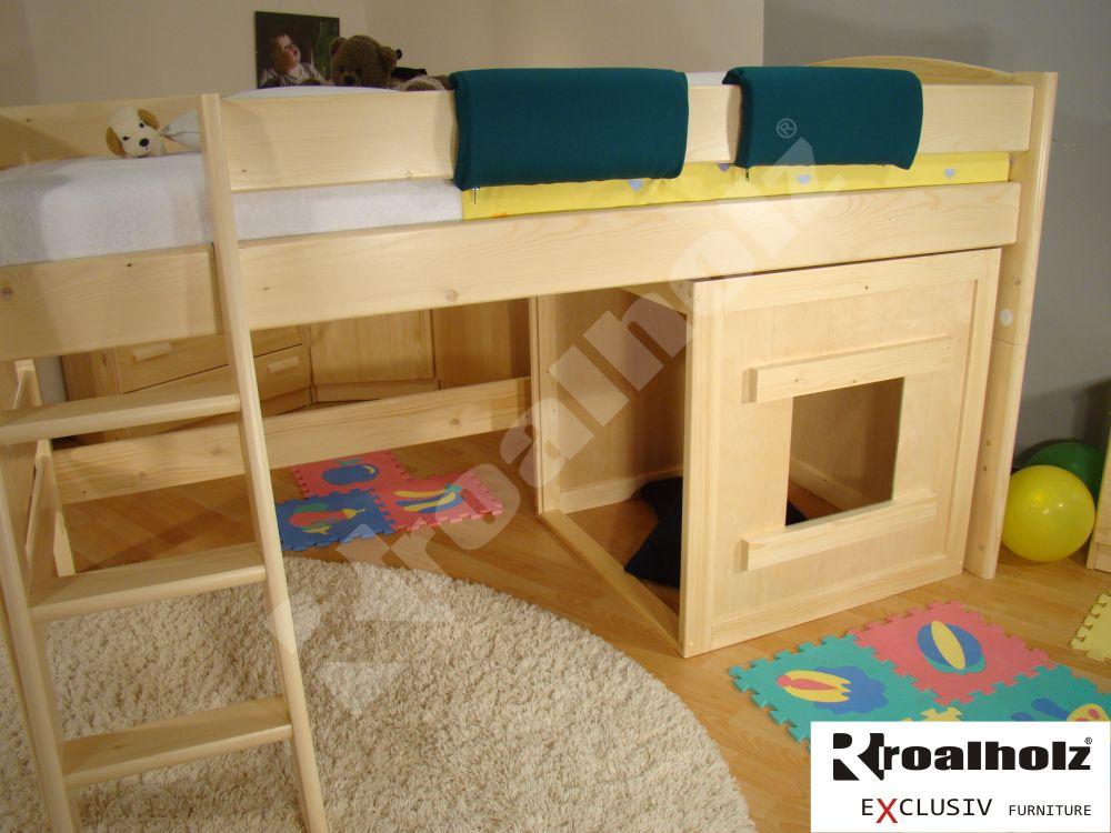 dřevěný DOMEČEK FIJA masiv pro děti (DOMEČEK FIJA pro děti, DOMEČEK do dětského pokoje)