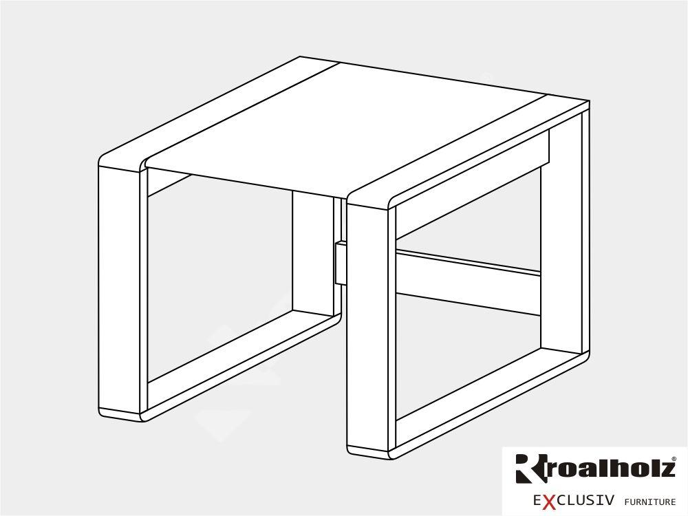 Bílý psací stůl z masivu GENIUS 60, rohový díl nádstavba masiv ROALHOLZ