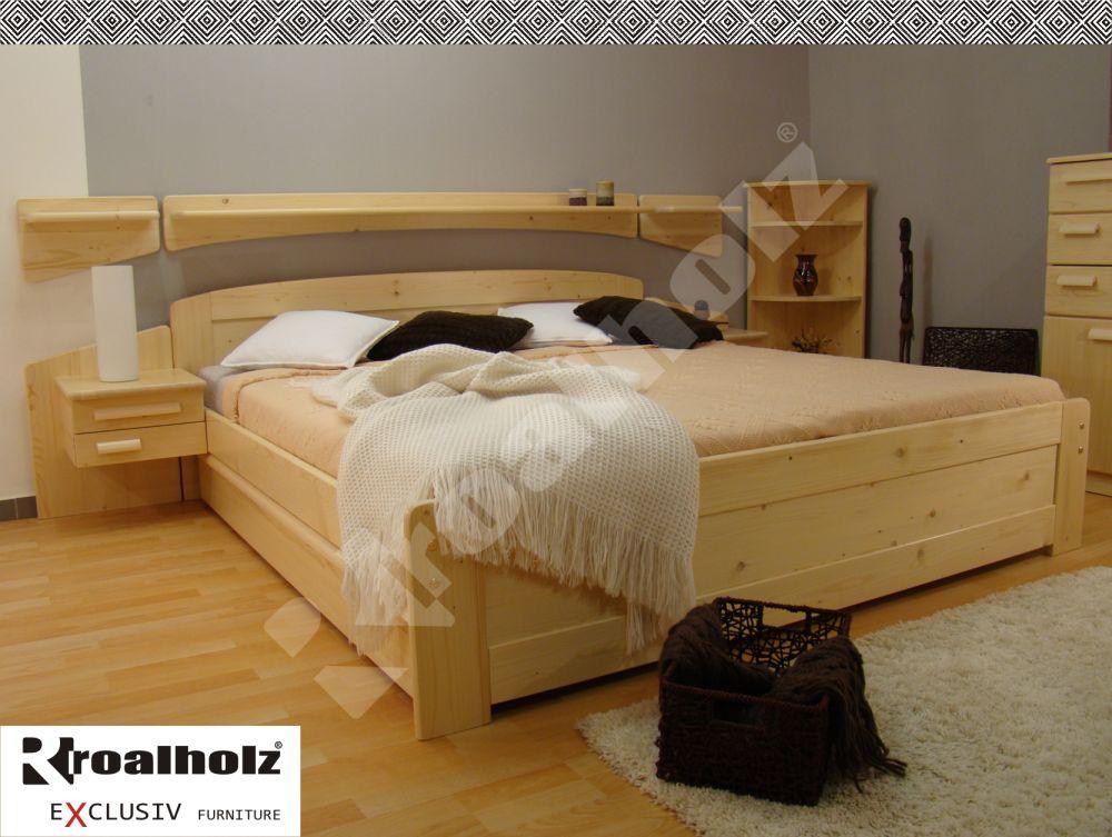 ROALHOLZ dřevěné dvoulůžko z masivu PAVLA NR 180x200