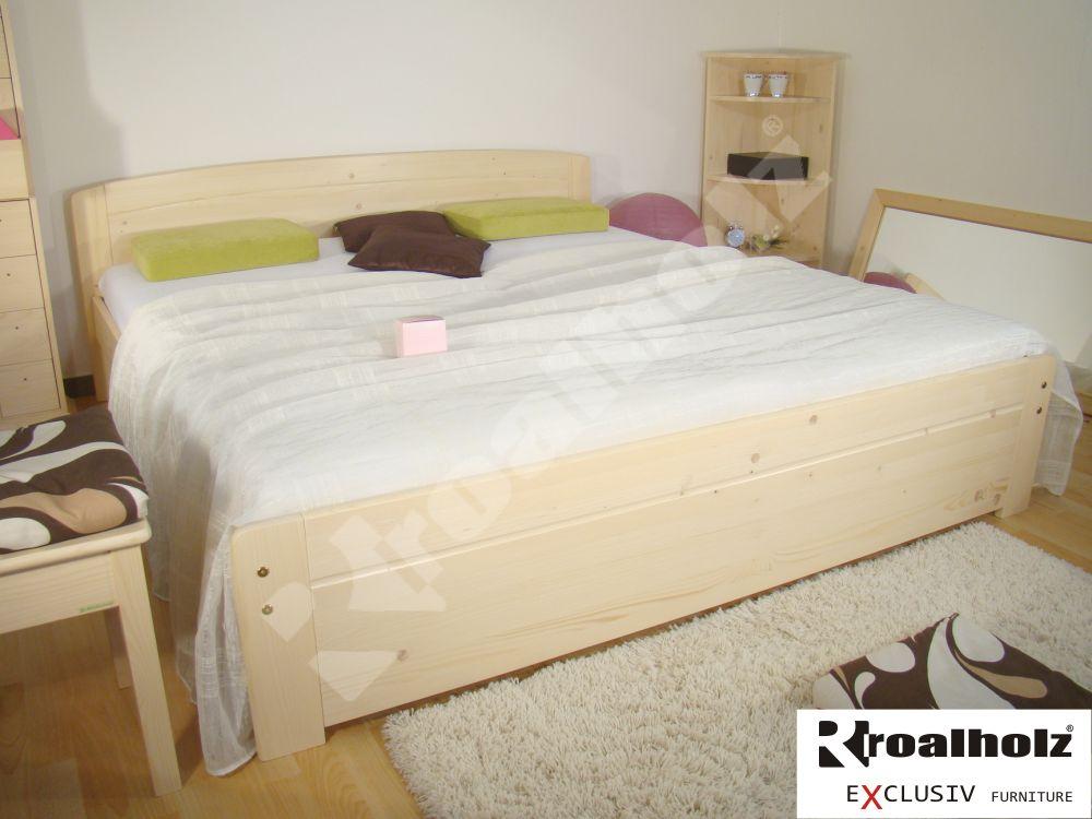 dřevěná masivní manželská postel NORIDA NR (masivní dvoulůžko smrk NORIDA NR)
