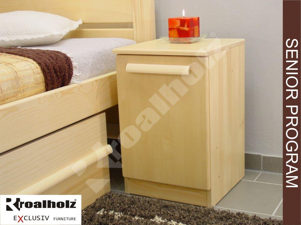 Dřevěný senior noční stolek z masivu KATRIN III DV, noční stolek masiv ROALHOLZ
