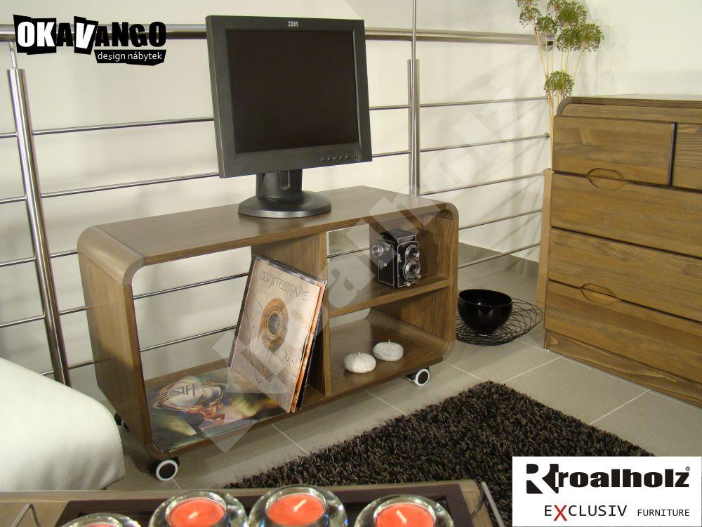 televizní stolek z masivu KITO (design tv stolek masiv pod televizi KITO )