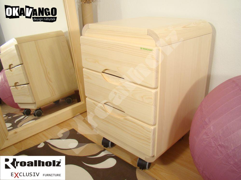 kontejner k psacímu stolu masiv DANSO KONTEJNER (pojízdný kontejner DANSO KONTEJNER od ROALHOLZ)