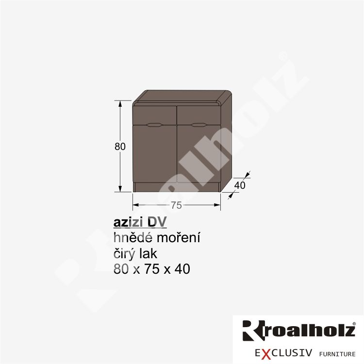 dřevěná komoda z masivu AZIZI DV