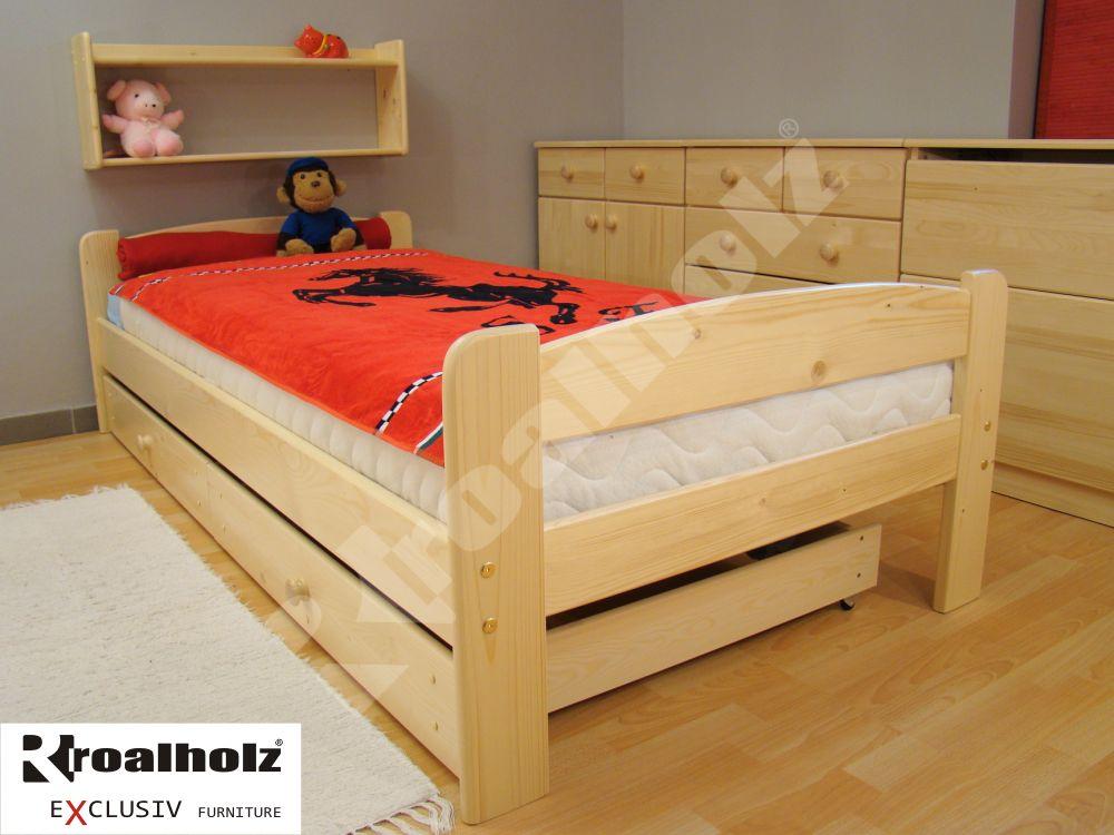 Dětská postel z masivu BETY 90x200, postel masiv pro děti